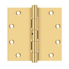 """5""""x 5"""" Square Hinges, Ball Bearings - PVD Polished Brass"""