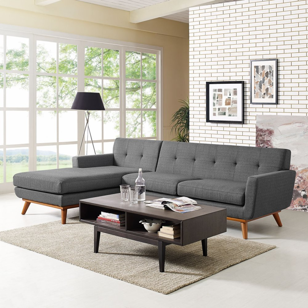 Engage Left-Facing Sectional Sofa in Gray