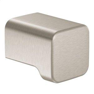 90 Degree brushed nickel drawer knob Product Image