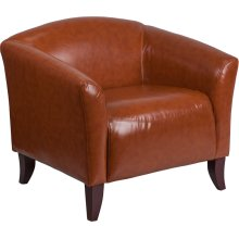 HERCULES Imperial Series Cognac LeatherSoft Chair