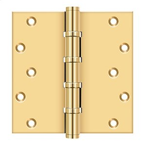 """6"""" X 6"""" Square Hinges, Ball Bearings - PVD Polished Brass Product Image"""