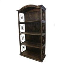 """40"""" Bookcase W/Iron Stars Medio Finish"""