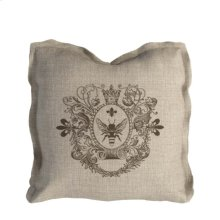 Logo Pillow Beige Linen