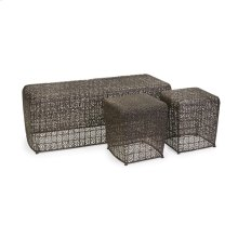 Avantar Metal Wire Bench and Two Stools - Set of 3