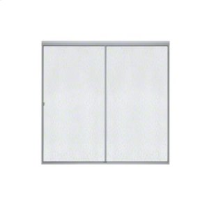 Standard Sliding Bath Door - Soft Silver Product Image