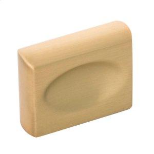 """1-3/8"""" Ingot Knob - Brushed Golden Brass Product Image"""