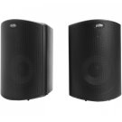 "All Weather Outdoor Loudspeakers with 4.5"" Drivers and 3/4"" Tweeters in Black Product Image"