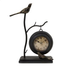 Bird and Branch with Hanging Clock