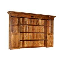 Two Door Hutch with Wooden Doors