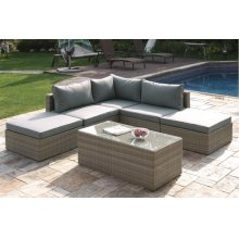 408 / Liz.p30- 6PC OUTDOOR PATIO SOFA SET [P50141(1)+P50143(2)+P50145(2)+P50151(1)]