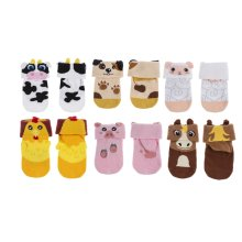 3D Baby Socks (12 pr. ppk.)