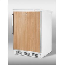 Freestanding medical all-freezer capable of -25º C operation; white exterior with lock and stainless steel door frame to accept custom panels