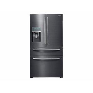 28 cu. ft. Food Showcase 4-Door French Door Refrigerator in Black Stainless Steel Product Image