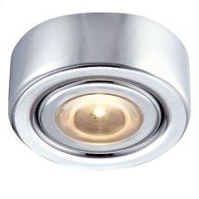 LED Puck Light w / mounting ring Chrome Finish