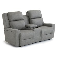 RYNNE Power Tilt Headrest/Lumbar Space Saver Console Loveseat Chaise