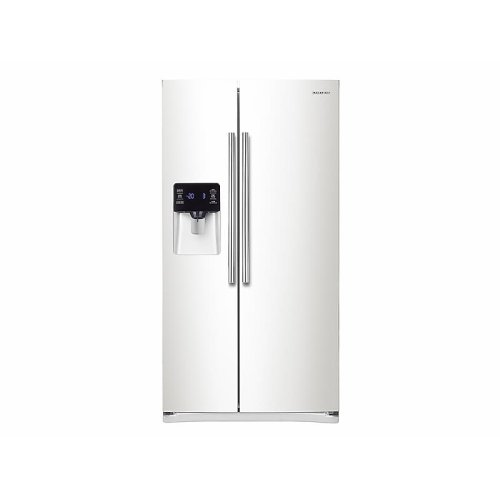 25 cu. ft. Side-by-Side Refrigerator with In-Door Ice Maker in White