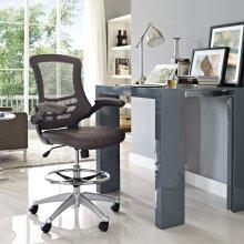 Attainment Vinyl Drafting Chair in Brown