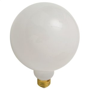 G80 25w E26 Light Bulb  White Product Image