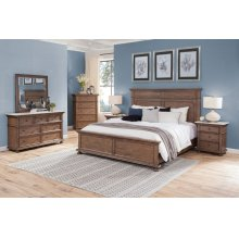 "Sheffield Queen Headboard Cognac 65""x3""x61"