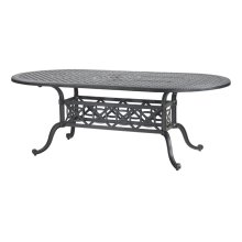 "Grand Terrace 42"" x 86"" Oval Dining Table"