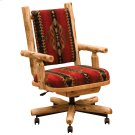 Upholstered Executive Chair - Natural Cedar - Upgrade Fabric Product Image