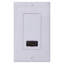 Single HDMI/coax wall plate
