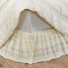 Jasmine Creme Twin Bed Skirt 39x76x16