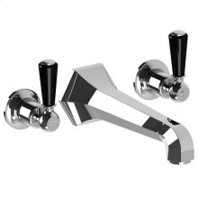 Mackintosh black lever wall-mounted 3-hole bath filler trim only, to suit R1-4036 rough