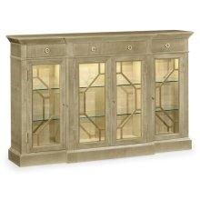 Champagne Four-Door Display Cabinet