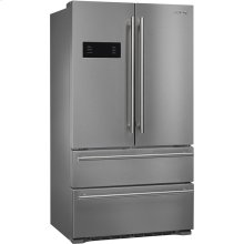 """90 CM (Approx 36""""), French Door Refrigerator/Freezer, 2 doors and 2 drawers, Stainless steel"""