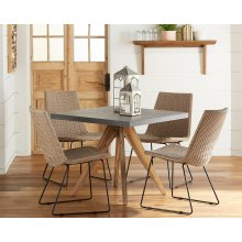 Array Dining Table with Plait Rattan Chairs