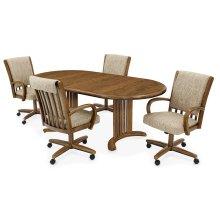 Table Base: Double Pedestal (chestnut)
