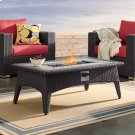 """Splendor 43.5"""" Rectangle Outdoor Patio Fire Pit Table in Espresso Product Image"""