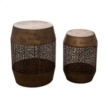 Laser Cut Metal Accent Tables, Set of 2