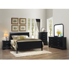 BLACK LOUIS PHILIPPE NIGHT STAND