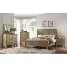6 PC BEDROOM SET (QUEEN BED, DRESSER, MIRROR, NIGHTSTAND) *SPECIAL 1-TIME PRICING*