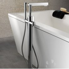 Free-standing Bath Mixer With Anti-scale Handshower