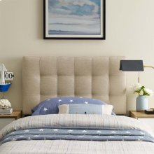 Lily Twin Upholstered Fabric Headboard in Beige