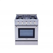 30 Inch Professional Gas Range In Stainless Steel