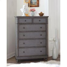 Bella Grigio - Six Drawer Chest - Chipped Gray Finish