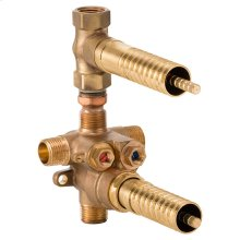 2-Handle Thermostatic Rough with Volume Control - No Finish