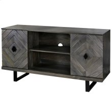 Wesley  52in X 16in X 30in  Two Door Tv & Media Cabinet Made of Solid Mango Wood in a Slate Gray F