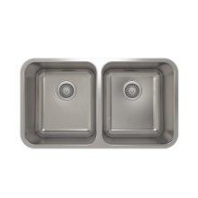ProInox E200 50/50 Double Bowl Undermount Kitchen Sink ProInox E200 18-gauge Stainless Steel, 28'' X 16'' X 9''