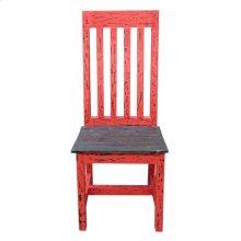 Red Scraped Santa Rita Chair