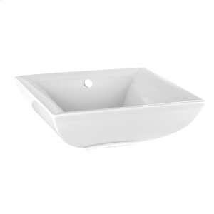 """Counter washbasin in White European Ceramic with overflow waste 6-1/4"""" HIGH x 17-11/16"""" WIDE Tip toe style spring loaded drain 29048 or 29284 available separately Overflow cover provided in 031 - See 37586 for more options Please contact Gessi North America for freight terms Not certified for use in North America Product Image"""