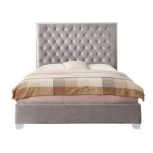 Emerald Home Lacey Upholstered Queen Bed Kit Gray B132-10-03-k