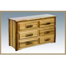 Glacier Country Log 6 Drawer Dresser