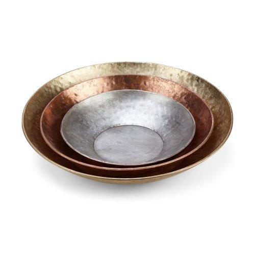 Leonia Decorative Metal Bowls - Set of 3