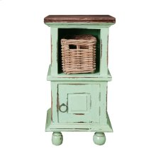 CC-TAB016TLD-TERW-B  Cottage End Table with Basket