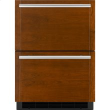 """24"""" Double-Refrigerator Drawers, Panel Ready"""